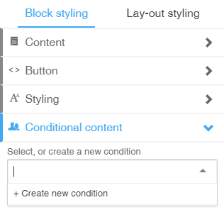 How do I add conditional content to my emails?