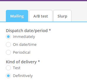 Send mailing